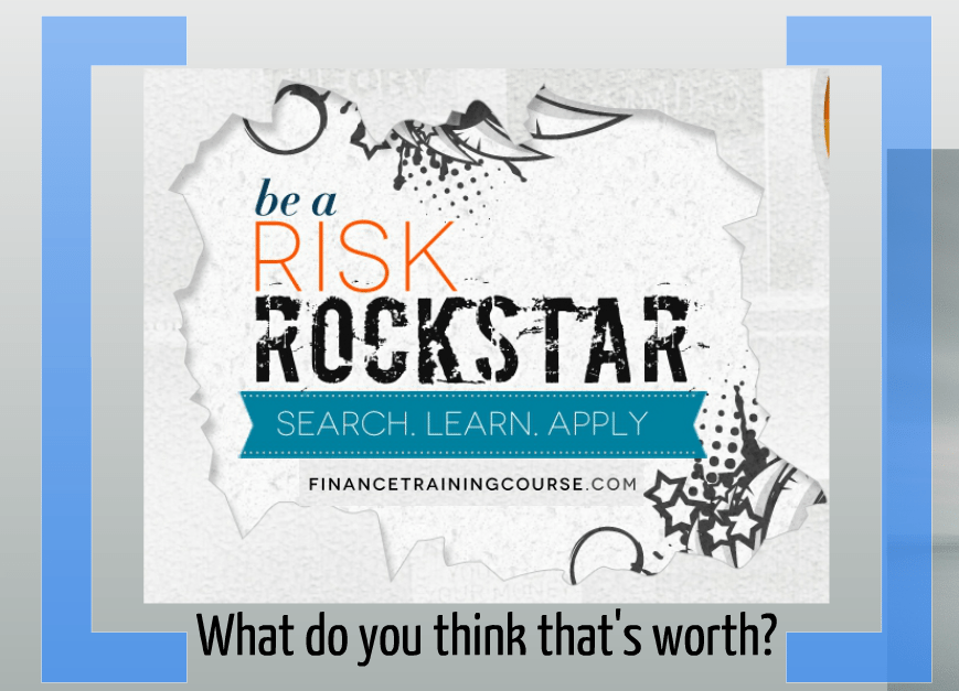 Be a Risk Rock Star
