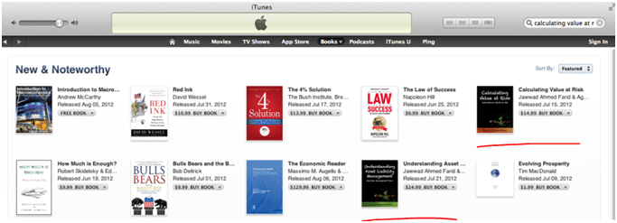 Understanding ALM and Calculating Value at Risk iBooks featured on the Apple iTunes store