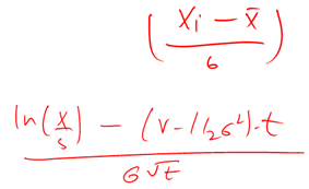 Standard normal conversion equation