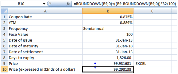 Bond duration convexity calculations