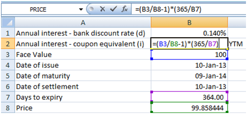 Duration and convexity - coupon equivalent yield