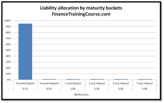 ALM Strategies - default maturity distribution of liabilities