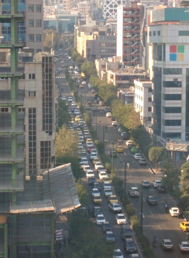 Tehran . Evening rush hour