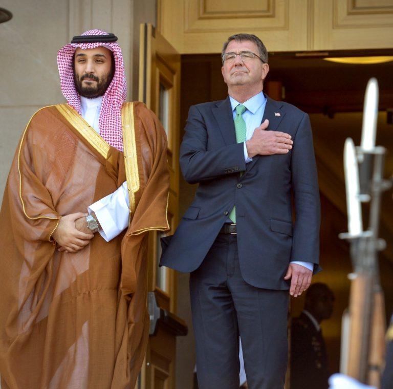 Prince Mohammad Bin Salman of Saudi Arabia on his visit to the Pentagon