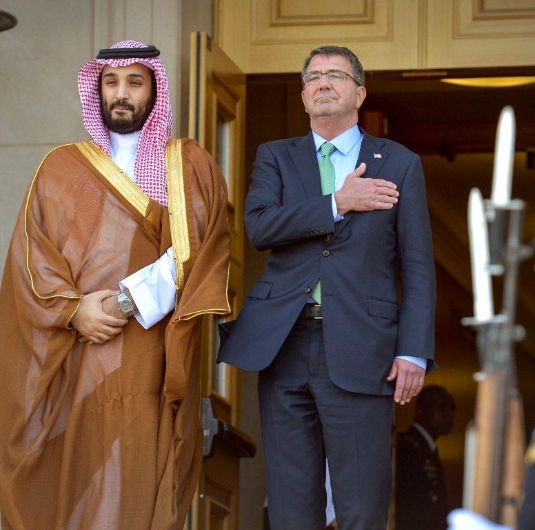 Prince Mohammad Bin Salman (MBS) of Saudi Arabia on his visit to the Pentagon