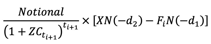 Black's Formula for Floorlet