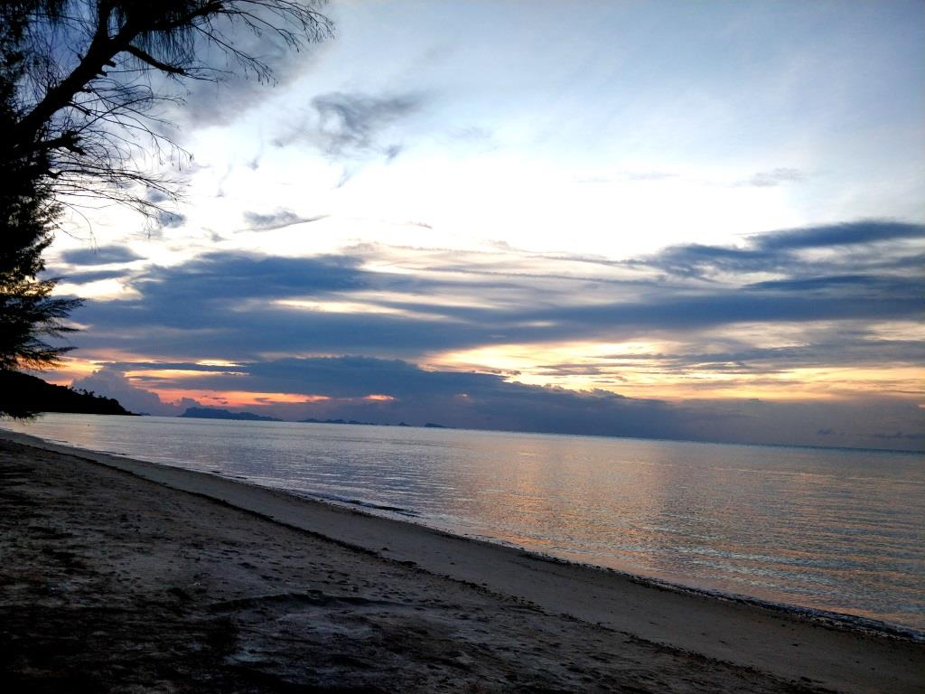 A sunrise run by the beach